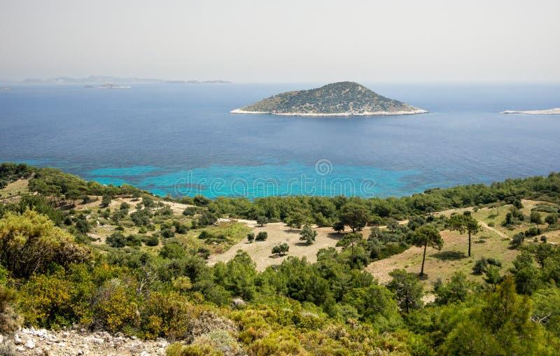 Coastline on mediterranean sea, Turkey. stock photo