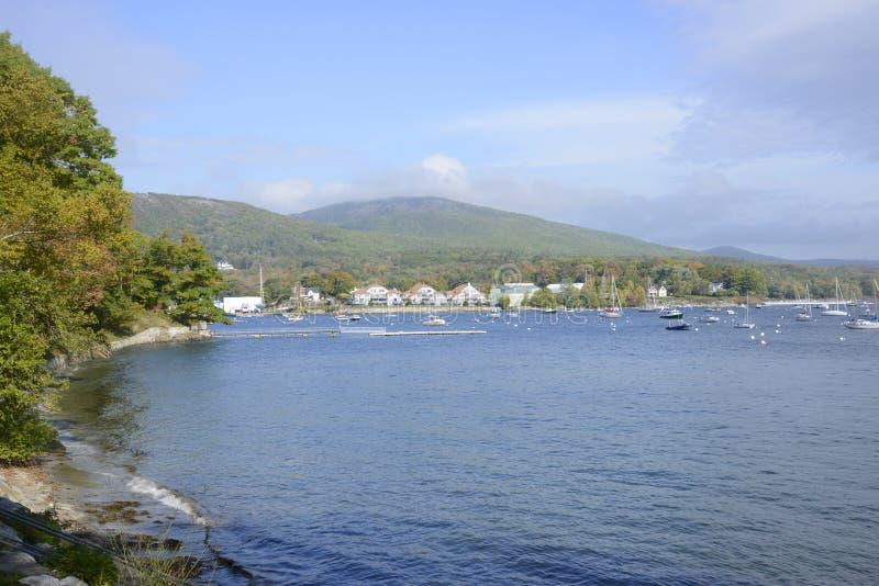 Coastline near Camden, Maine royalty free stock photo