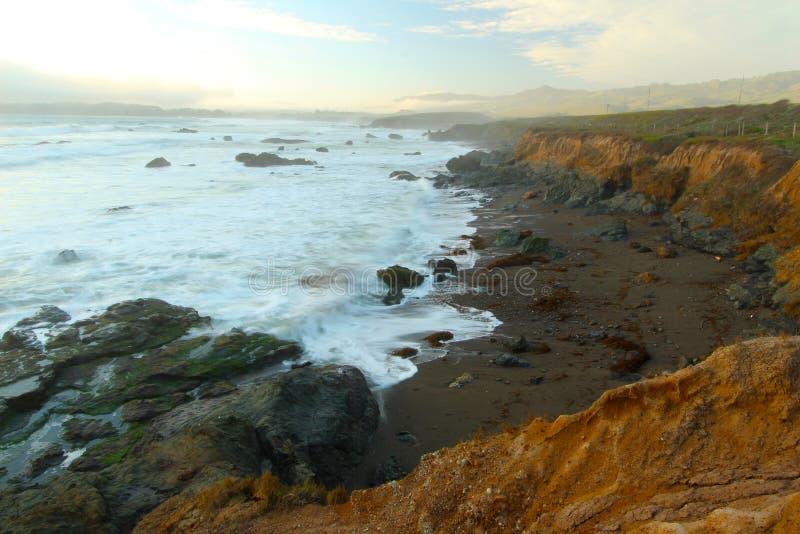 Coastline near Hearst Castle in San Simeon, California, USA stock photo