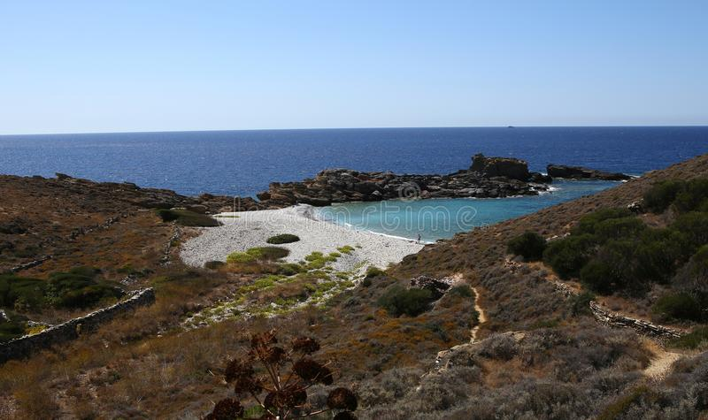 Coastline near Limeni village, Peloponnese, Greece. Coastline near Limeni village, in magne peninsula, Peloponnese, Greece royalty free stock image
