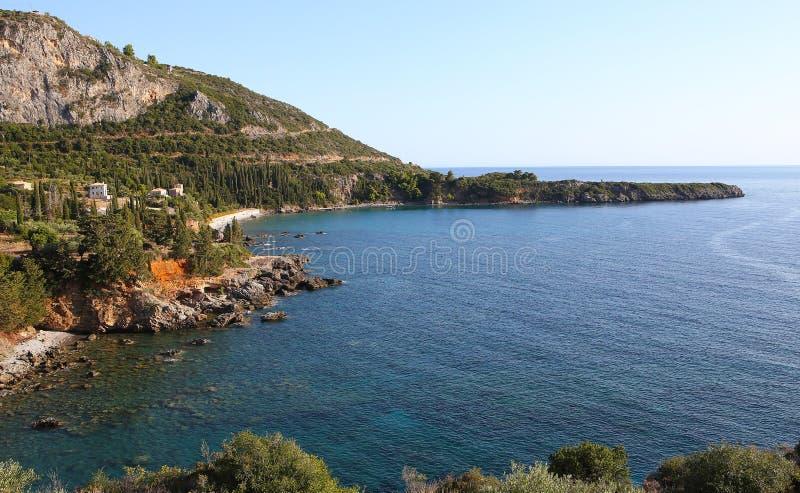Coastline near Stoupa village, Peloponnese, Greece. Coastline near Stoupa village, Peloponnese, in Greece stock photo