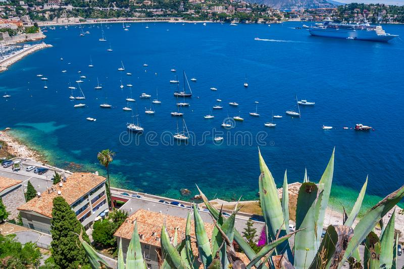 Coastline of Nice city in Southern France royalty free stock photo