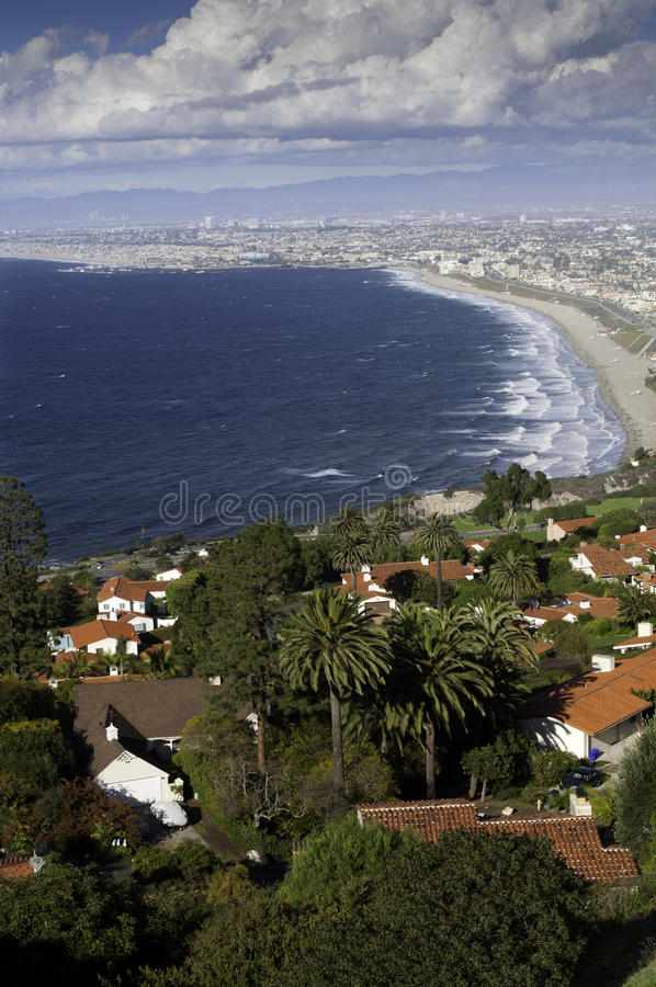 Coastline from Palos Verdes to Santa Monica royalty free stock images