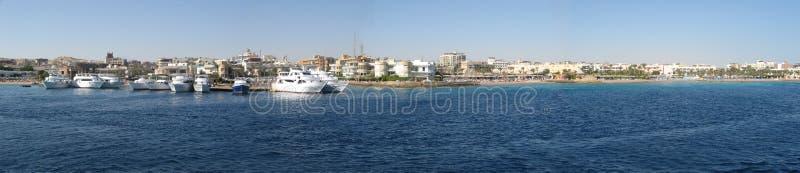 Coastline panorama stock photos