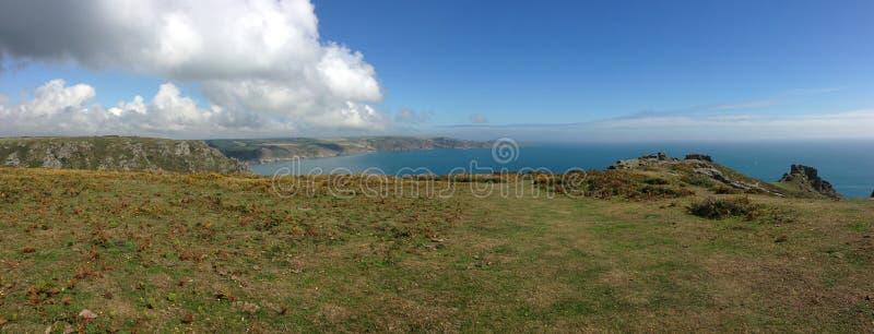 Coastline panorama royalty free stock images