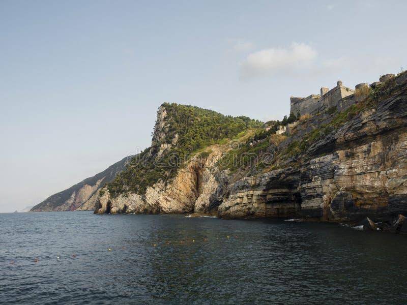 Coastline Porto Venere natural reserve stock images