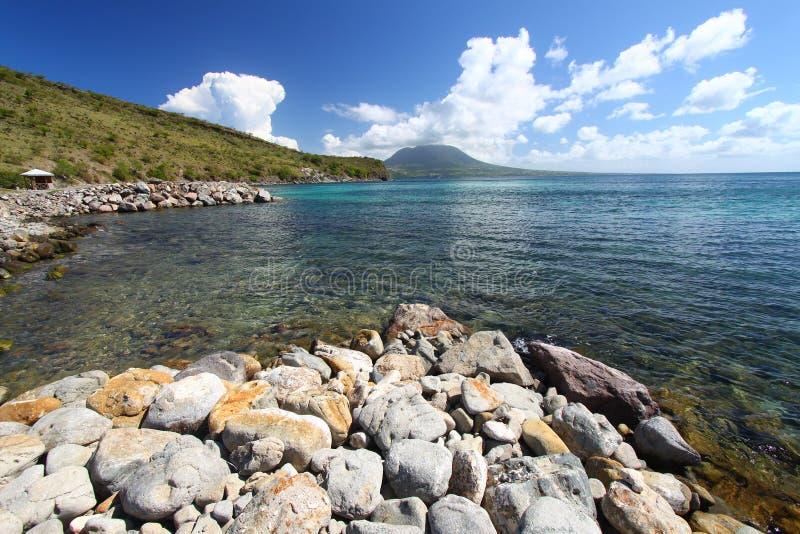 Coastline of Saint Kitts royalty free stock photo