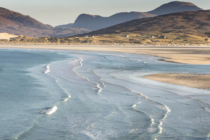 Coastline at Seilebost on the Isle of Harris. royalty free stock photo