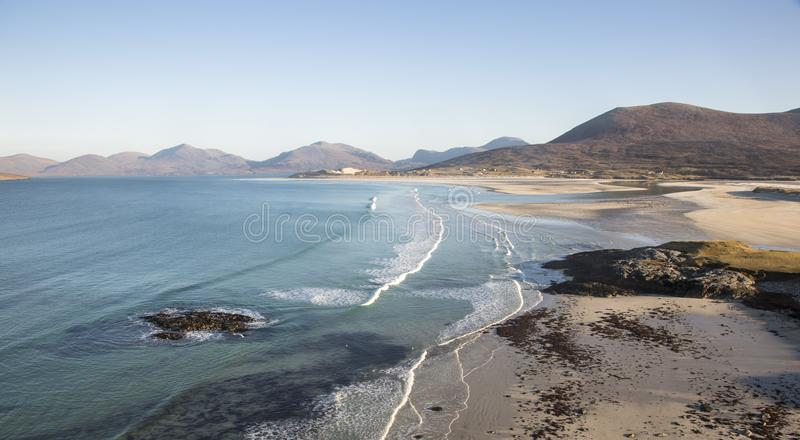 Coastline at Seilebost on the Isle of Harris. stock photography