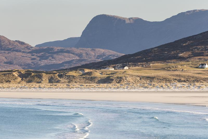 Coastline at Seilebost on the Isle of Harris. royalty free stock photography