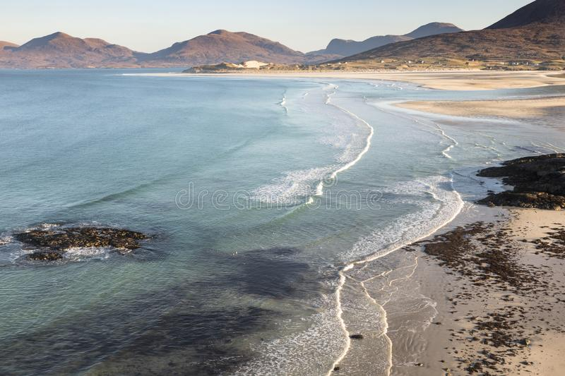 Coastline at Seilebost on the Isle of Harris. royalty free stock photos