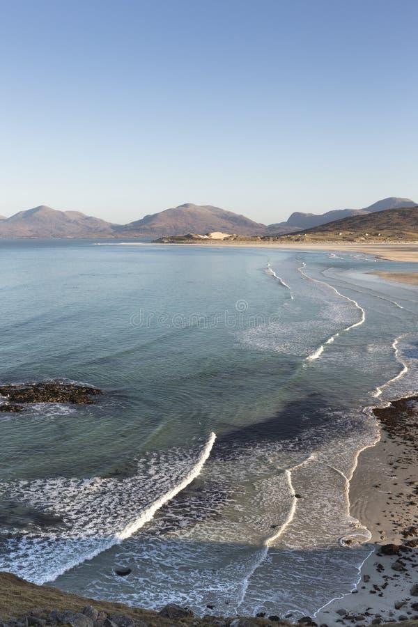 Coastline at Seilebost on the Isle of Harris. stock images