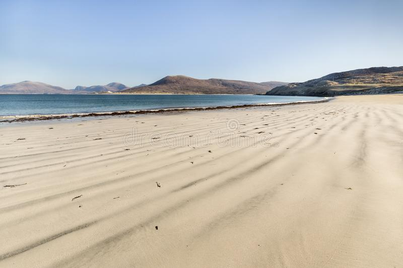 Coastline at Seilebost on the Isle of Harris. royalty free stock image