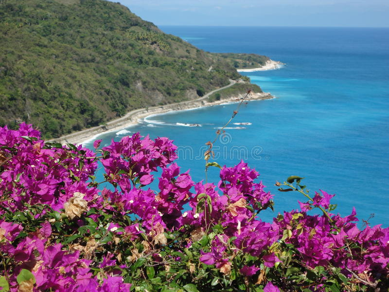 Coastline. This is a coastline shot of the caribbean sea, Barahona Dominican Republic stock photos