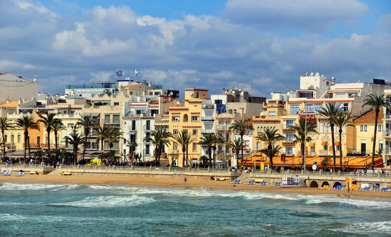 Coastline of sitges spain stock photo image of vacation 45779824 - Sitges tourist information office ...