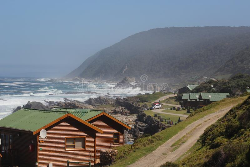 Coastline at storms river mouth south africa. Garden route national park stock photography