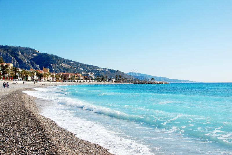 Download Coastline Of Village Menton - French Riviera - Fra Stock Photography - Image: 23979732
