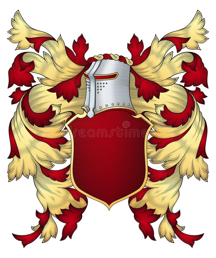 Download Coat of arms stock vector. Image of history, emblem, gold - 10627136