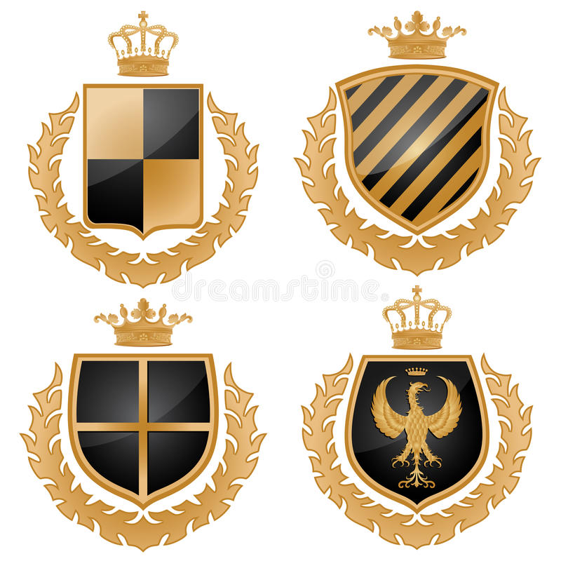 Download Coat of arms stock vector. Image of gold, background - 12579132