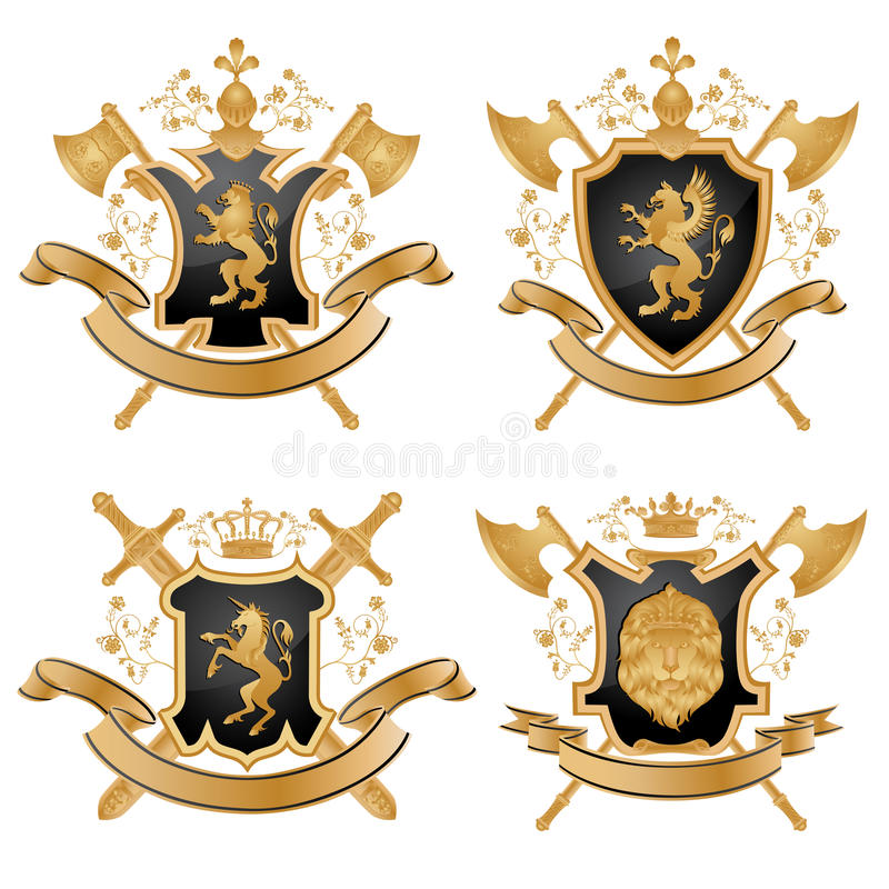 Download Coat of arms stock vector. Image of gold, gryphon, ancient - 13191845