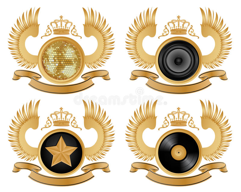 Download Coat of arms stock vector. Image of disco, dance, isolated - 13220522