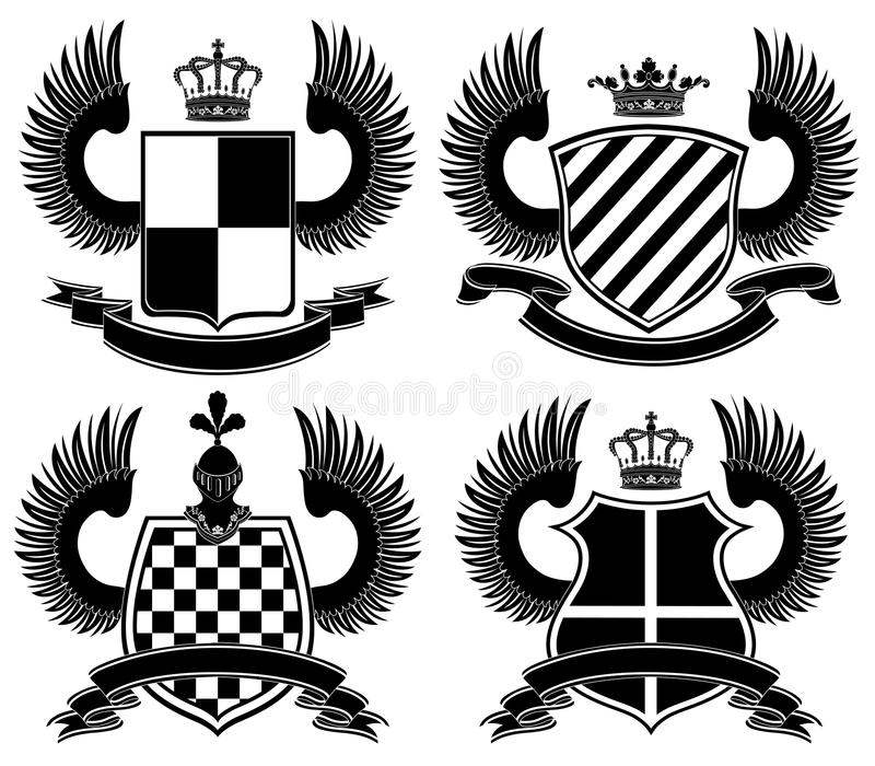 Download Coat of arms stock vector. Image of retro, imperial, ribbon - 13483316