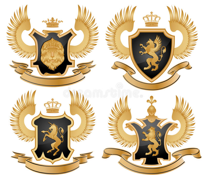 Download Coat of arms stock vector. Image of horse, griffin, banner - 13571590