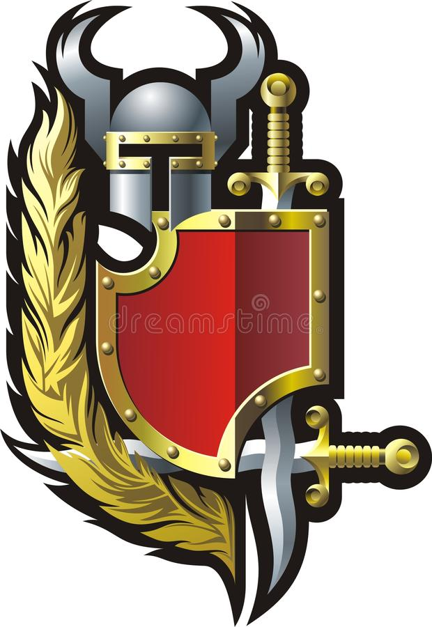 Download Coat-of-arms stock vector. Illustration of graphic, medieval - 16161188