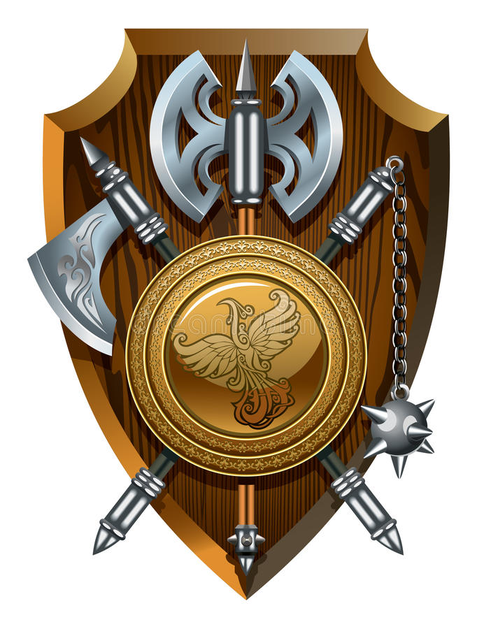 Download Coat of arms stock vector. Image of battle, headed, arms - 25130075