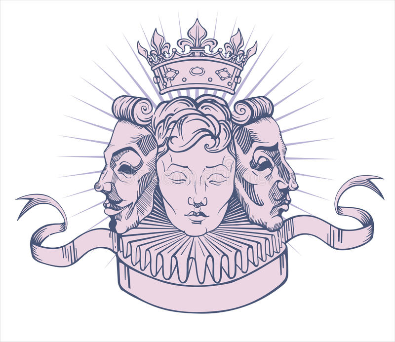 Download Coat of arms stock vector. Image of mask, elegance, crown - 25723412
