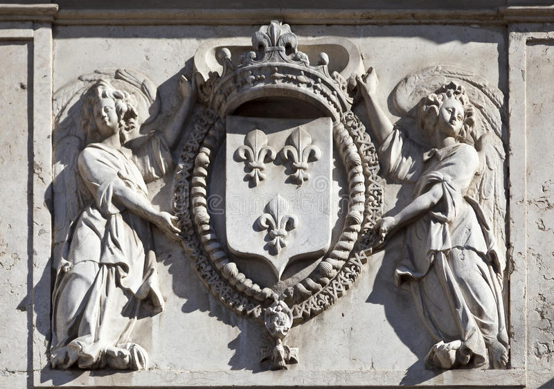 Download Coat of Arms stock photo. Image of crown, architectural - 28242672