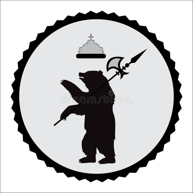 Coat of arms bear. illustration royalty free illustration