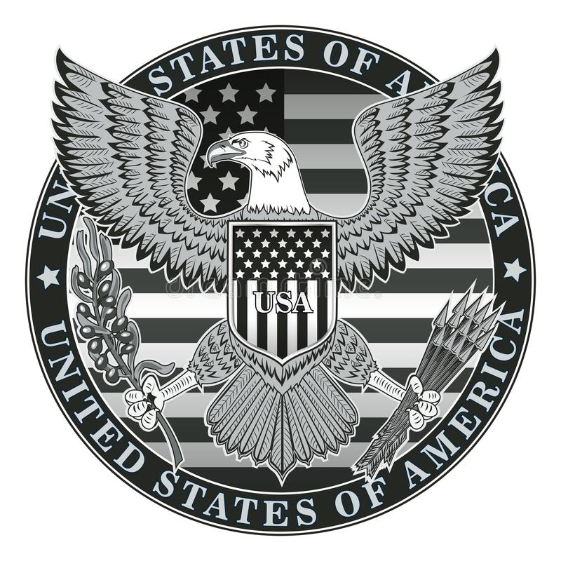 Coat of arms. Of the United States of America royalty free illustration