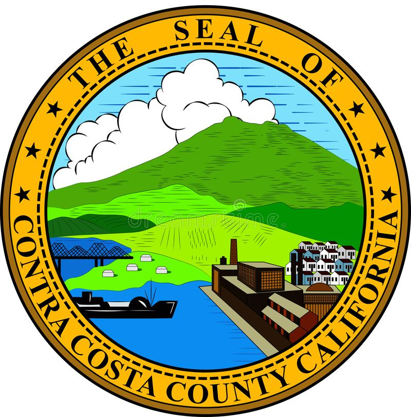 Coat of arms of Contra Costa County in California, United States vector illustration