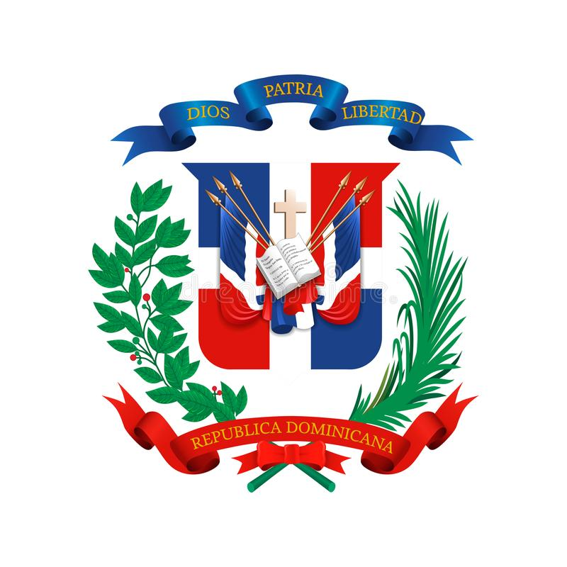 Coat Of Arms Of Dominican Republic Stock Vector Illustration Of