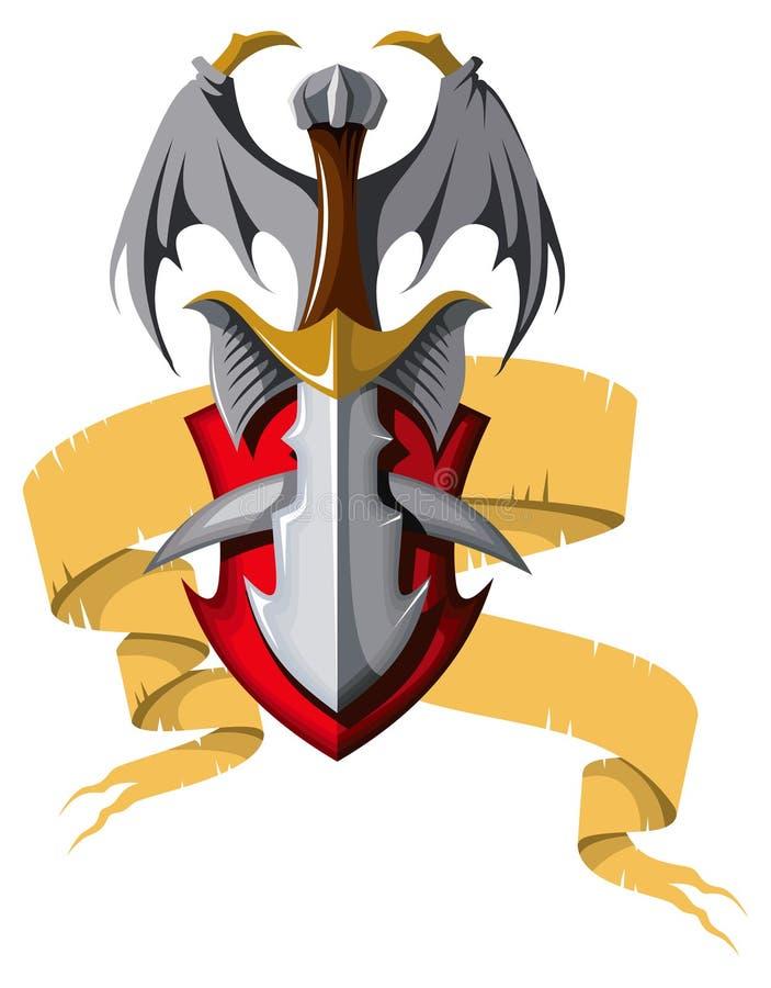 Download Coat of arms stock vector. Illustration of heraldic, dragon - 29847055