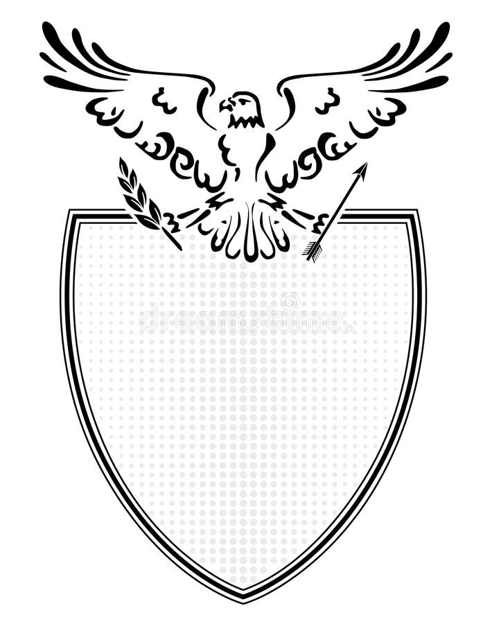 Download Coat of arms eagle stock vector. Image of eagle, service - 12104956