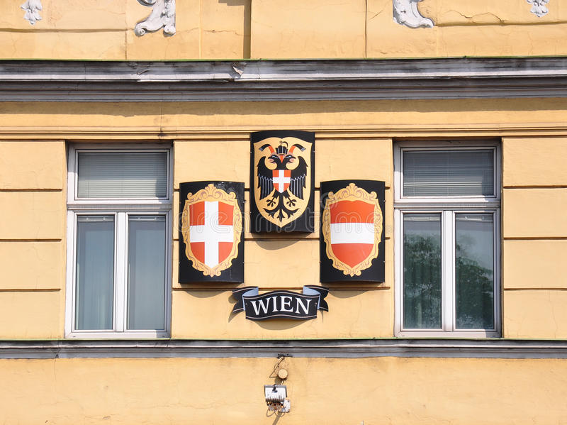 Download Coat Of Arms And Flag Of Vienna And Austria Stock Photo - Image: 21248590