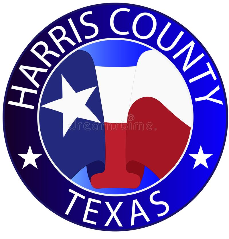 Coat of arms of Harris County in Texas in United States vector illustration
