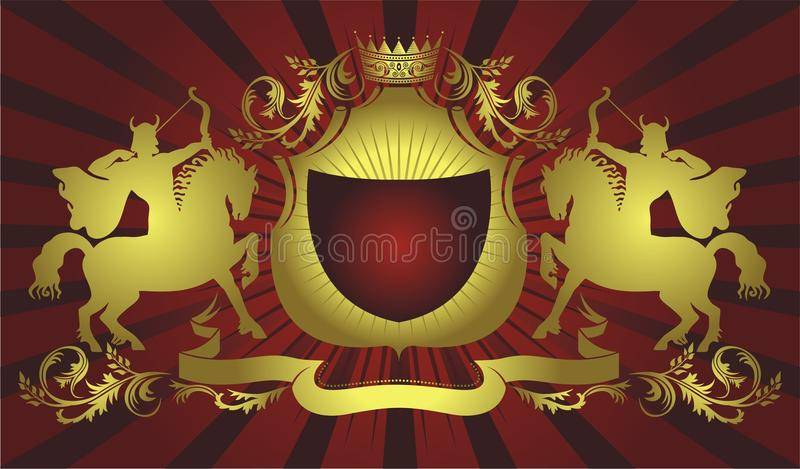 Download Coat of arms illustration stock vector. Image of marksman - 11605980