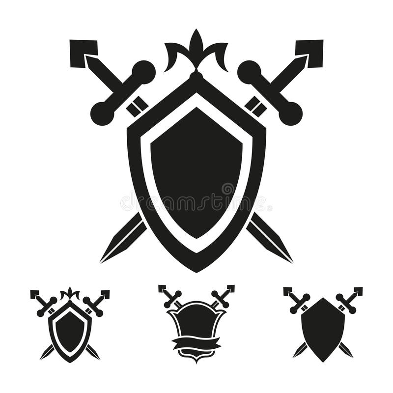 Coat of arms knight shield templates vector illustration
