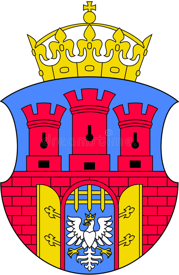 Coat of arms of Krakow. Coat of arms of the Polish city of Krakow stock illustration
