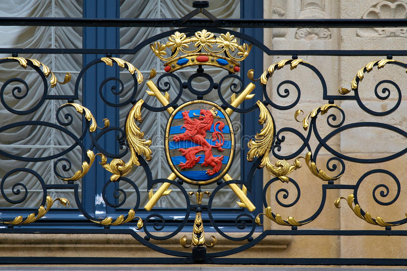 Coat of arms of Luxembourg royalty free stock photography