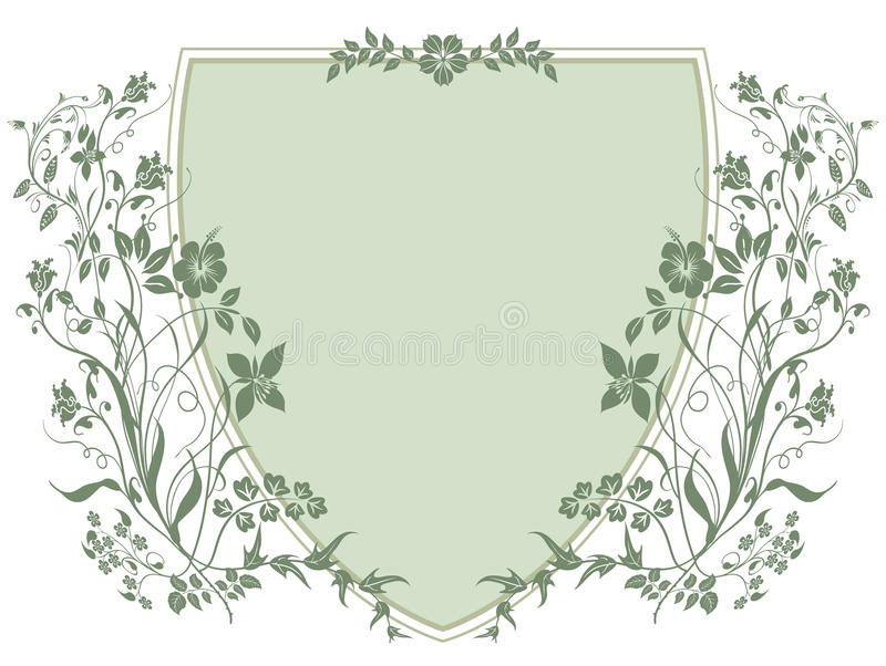 Download Coat Of Arms With Plants Stock Photography - Image: 23128202