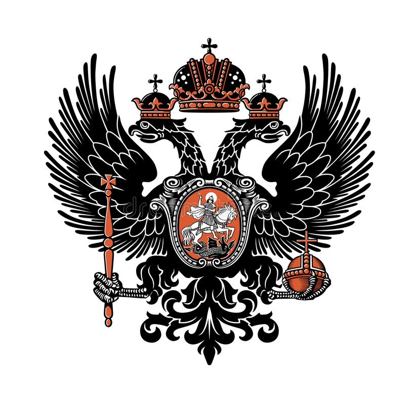 Coat of arms of the Russian Empire. Vector illustration. XIX century. vector illustration