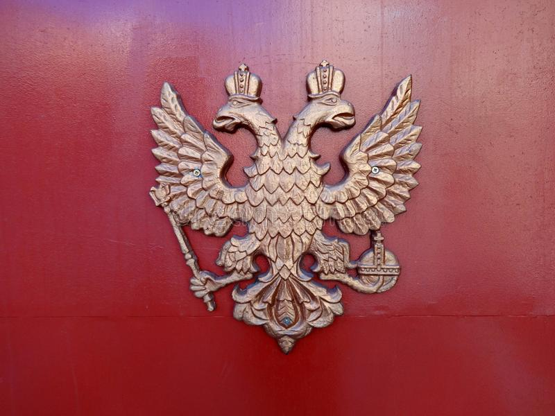 Coat of arms of the Russian Federation with double-headed eagle royalty free stock photography