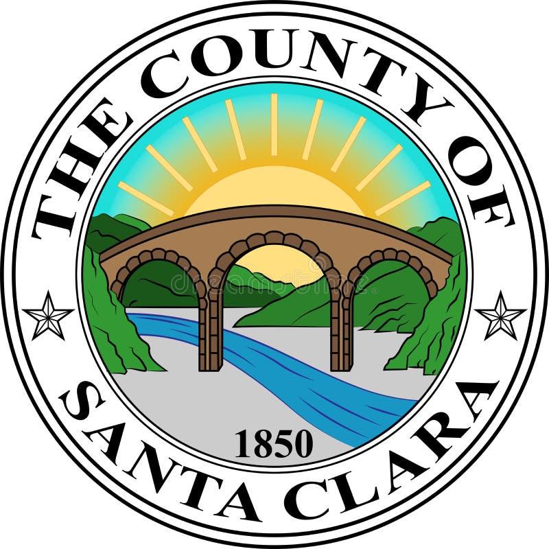 Coat of arms of Santa Clara in California, United States. Coat of arms of Santa Clara County in California in the United States. Vector illustration royalty free illustration