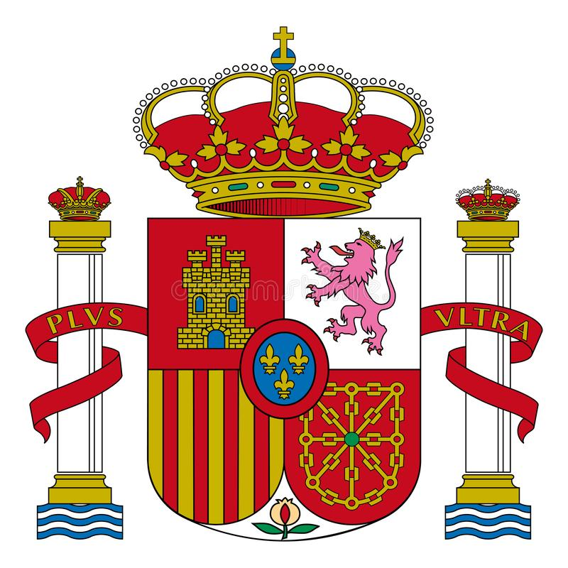 Coat of arms Spain royalty free illustration