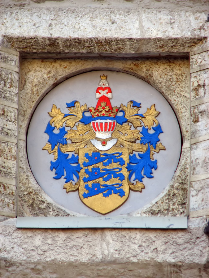 Coat of arms of Tallinn royalty free stock photo