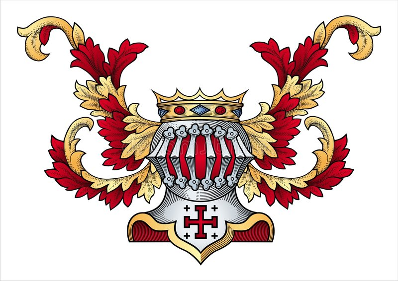 Download Coat of arms vector stock vector. Image of mantling, fleur - 7447069